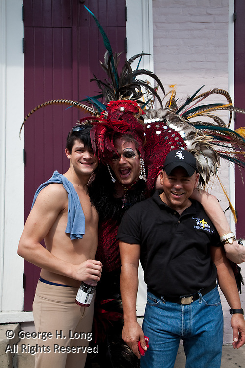 Southern Decadence parade in the French Quarter of New Orleans