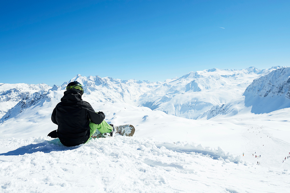 Photoshoot for TUI's ski company Crystal Holidays shot in Val d'Isere, France.
