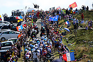 Illustration, supporters, public, fans, peloton, Scenery, Pic de Nore during the 105th Tour de France 2018, Stage 15, Millau - Carcassonne (181,5 km) on July 22th, 2018 - Photo Kei Tsuji / BettiniPhoto / ProSportsImages / DPPI
