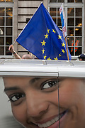 """Seven days before the original for the UK to leave the EU, hundreds of thousands of Brexit protestors marched through central London calling for another EU referendum. Organisers of the """"Put It To The People"""" campaign say more than a million people joined the march before rallying in front of Parliament, on 23rd March 2019, in London, England."""
