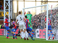 Vicente Guaita of Crystal Palace drops the ball over the line  from a corner to concede the first goal during the Premier League match at Selhurst Park, London. Picture date: 1st February 2020. Picture credit should read: Paul Terry/Sportimage