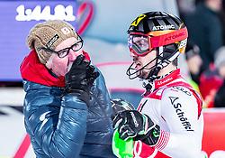 "29.01.2019, Planai, Schladming, AUT, FIS Weltcup Ski Alpin, Slalom, Herren, 2. Lauf, im Bild Marcel Hirscher (AUT) mit Vater Ferdinand // Marcel Hirscher of Austria with his Father Ferdinand reacts after his 2nd run of men's Slalom ""the Nightrace"" of FIS ski alpine world cup at the Planai in Schladming, Austria on 2019/01/29. EXPA Pictures © 2019, PhotoCredit: EXPA/ JFK"