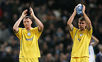 Photo: Paul Thomas.<br /> Manchester City v Sheffield Wednesday. The FA Cup. 16/01/2007.<br /> <br /> Dejected Graham Coughlin (L) and Tommy Spurr of Wednesday come down and thank their travelling fans.