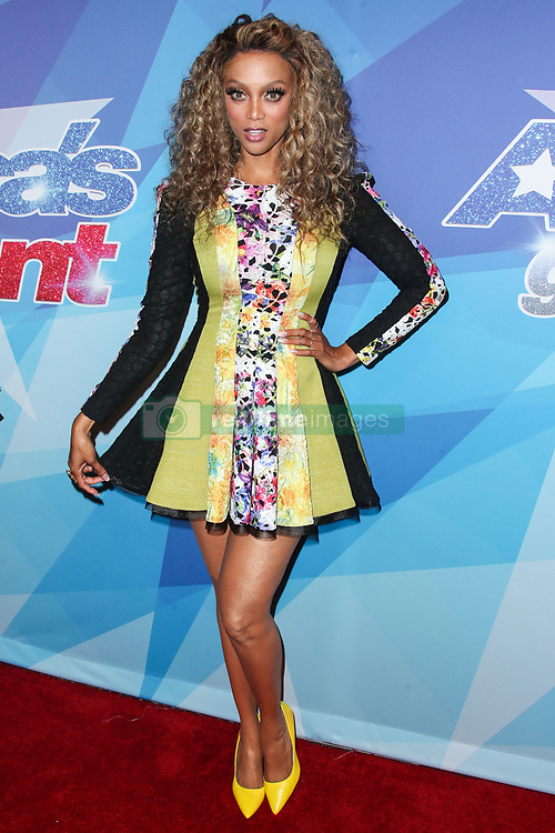 Tyra Banks arrives at NBC's 'America's Got Talent' Season 12 Live Show held at Dolby Theatre on August 15, 2017 in Hollywood, California. 15 Aug 2017 Pictured: Tyra Banks. Photo credit: IPA/MEGA TheMegaAgency.com +1 888 505 6342
