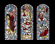 "Window 13 on plan. 55""w x 48.5""h inc. wood frame.<br /> <br /> Saint Mary's by-the-Sea, Northeast Harbor, Maine."