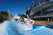 Billy Tennat operating at the Wave House, Durban, South Africa.