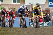 2019-12-27 Cycling: dvv verzekeringen trofee: Loenhout: Thomas Mein leading the chasers