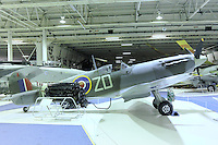 Supermarine Spitfire Vb BL614, Royal Air Force Museum Hendon, Photography After Hours, 19 April 2013, (Photo by Richard Goldschmidt)