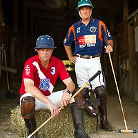 Portrait of Oak Brook Polo players