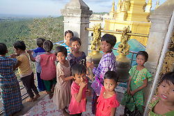 Children Ringing Bell, Mount Popa & Popa Taungkalat Monastery