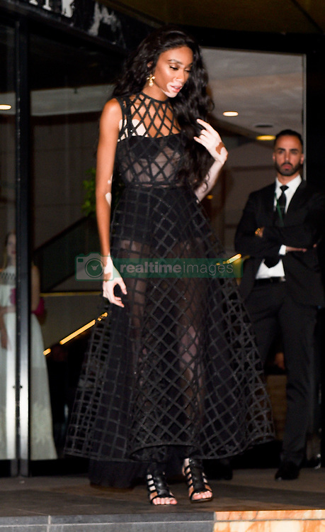 Dior dinner party departures at the Cannes film festival 2018. 12 May 2018 Pictured: Winnie Harlow, Hailey Baldwin, Bella Hadid. Photo credit: Neil Warner/MEGA TheMegaAgency.com +1 888 505 6342