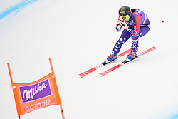 January 19, 2018 - Cortina D'Ampezzo, Dolimites, Italy - Jacqueline Wiles of United States of America competes  during the Downhill race at the Cortina d'Ampezzo FIS World Cup in Cortina d'Ampezzo, Italy on January 19, 2018. (Credit Image: © Rok Rakun/Pacific Press via ZUMA Wire)