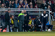 Cambridge United Manager Shaun Derry  during the Sky Bet League 2 match between Northampton Town and Cambridge United at Sixfields Stadium, Northampton, England on 12 March 2016. Photo by Dennis Goodwin.