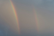 Double rainbow in the sky, London, UK.