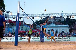 Gregor Lah at Beach Volleyball Challenge Ljubljana 2014, on August 1, 2014 in Kongresni trg, Ljubljana, Slovenia. Photo by Matic Klansek Velej / Sportida.com