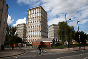 Tower block on Roman Road in East London. Housing is a huge issue in London, in particular in Tower Hamlets, the most populated borough in the whole country. The borough has a population of 220,000, which includes one of the highest ethnic minority populations in the capital.