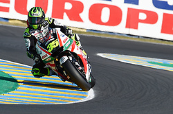May 18, 2018 - Le Mans, France - Cal Crutchlow (LCR Honda) during the practice sessions.during MotoGP Le Mans practice sessions in France  (Credit Image: © Gaetano Piazzolla/Pacific Press via ZUMA Wire)