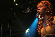 Amina of Black Buddafly at the Bilal performance at Highline Ballroom produced by Jill Newman Productions on August 15, 2008 in New York City.