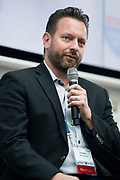 Brian Kaas from CMFG Ventures at the Wisconsin Entrepreneurship Conference at Venue 42 in Milwaukee, Wisconsin, Tuesday, June 4, 2019.