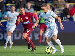 Jeppe Kjær (FC Helsingør) under kampen i 1. Division mellem FC Helsingør og Skive IK den 18. oktober 2020 på Helsingør Stadion (Foto: Claus Birch).
