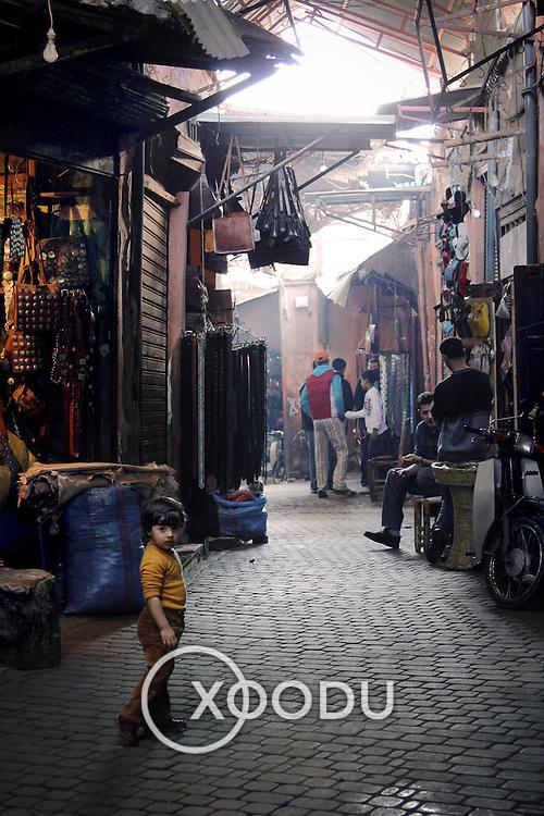 Marrakech medina souk, Marrakech, Morocco (November 2006)