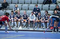 ROTTERDAM -  Pinoke H2 kijkt toe bij Laren D2 tegen Tilburg (r00d) D2 tijdens het Landskampioenschap reserveteam zaal 2013. FOTO KOEN SUYK