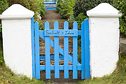 Traditional cottage wooden gate and gateway on Isle of Skye, the Western Isles of Scotland, UK