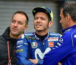 October 26, 2018 - Melbourne, Victoria, Australia - Italian rider Valentino Rossi (#46) of Movistar Yamaha MotoGP speaks with his engineers during day 2 of the 2018 Australian MotoGP held at Phillip Island, Australia. (Credit Image: © Theo Karanikos/ZUMA Wire)
