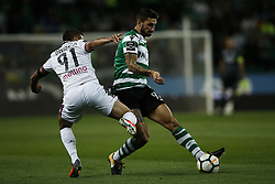 October 22, 2017 - Lisbon, Portugal - Sporting's defender Cristiano Piccini  (R) vies for the ball with Chaves's midfielder Davidson (L)  during Primeira Liga 2017/18 match between Sporting CP vs GD Chaves, in Lisbon, on October 22, 2017. (Credit Image: © Carlos Palma/NurPhoto via ZUMA Press)