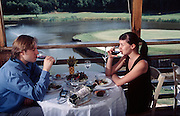 Moscow, Russia, July 2002..Restaurant Uley, located on the grounds of the Tumba Golf Club......