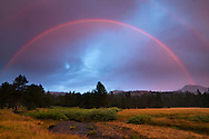 Double Rainbow over Faith Valley, Alpine County, California