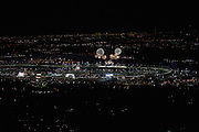 January 30-31, 2016: Daytona 24 hour: Arial view of fireworks at Daytona from the air.