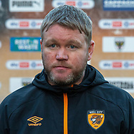 Hull City manager Grant McCann after the EFL Sky Bet League 1 match between AFC Wimbledon and Hull City at Plough Lane, London, United Kingdom on 27 February 2021.