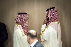 """Saudi Crown Prince Mohammed bin Salman during a meeting on """"World Economy"""" at the G20 Osaka Summit in Osaka, Japan on June 28, 2019.Photo by Eliot Blondet/ABACAPRESS.COM"""