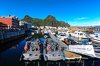 Norway, Lofoten. Svolvær is the administrative centre of Vågan Municipality,