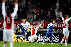 25-09-2008 VOETBAL: KNVB BEKER AJAX - FC UTRECHT: AMSTERDAM<br /> Utrecht verliest met 2-0 van Ajax / Luis Suarez gaat binnen de 16 onderuit, penalty en rood voor Nesu<br /> ©2008-WWW.FOTOHOOGENDOORN.NL