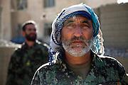 An Afghan National Army leader at german OP North, Northern Afghanistan