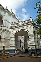Colombo National Museum.The Colombo Museum, as it was called at the beginning, was established in 1877. It founder was Sir William Henry Gregory, the British Governor of Ceylon at the time. The Royal Asiatic Society was instrumental in its development from the beginning.  The construction was completed in 1876 and the Museum opened the following year.  The museum took various steps to display the cultural and natural heritage of Sri Lanka. With the development of the museum to international level, it earned the status of a national museum..