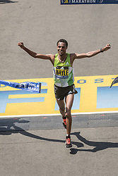 Boston Marathon Lemi Berhau Hayle of Ethiopia wins in 2:12:45