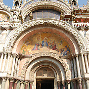 The Patriarchal Cathedral Basilica of Saint Mark in Venice St. Mark's Square. Main entrance.