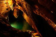 France, Languedoc Roussillon, Gard (30), Cevennes, grotte de Trabuc, le lac de minuit