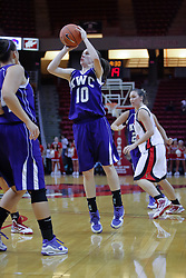 03 November 2009: Lauren Goffinet takes a shot during a game between Panthers of Kentucky Wesleyan and the Redbirds of Illinois State University on Doug Collins Court inside Redbird Arena in Normal Illinois.