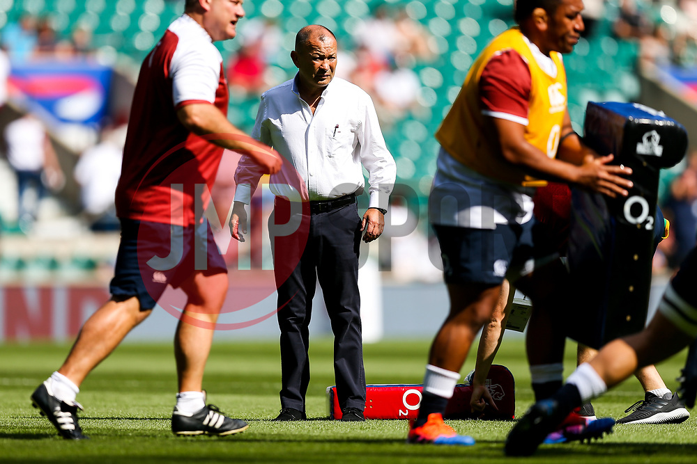 England Head Coach Eddie Jones - Rogan/JMP - 24/08/2019 - RUGBY UNION - Twickenham Stadium - London, England - England v Ireland - Quilter Series.