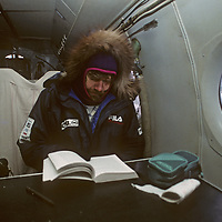 Renowned mountaineer Reinhold Messner prepares to fly in a dilapidated Russian airplane from Severnaya Zemlya back to Siberia after a failed crossing of the Arctic Ocean.