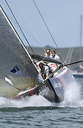 Alinghi approaching the top mark in race five of the finals against Oracle. 17/1/2003 (© Chris Cameron 2003)