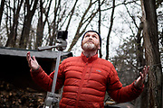 Sean Emery describes what he refers to as regard moments--times when he is stopped in his tracks by the beauty of nature--at his home in St. Paul November 27, 2018. (Courtney Perry)