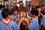 PERU, TRUJILLO, FESTIVALS Tribute to Flag Parade; scouts
