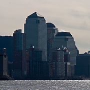 New York City skyline seen from the Hudson river, Circle Line Cruise.