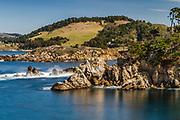 Point Lobos State Reserve looking east toward the Monastery, near Carmel, California, Highway 1,