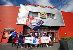 France fans prior to the UEFA Women's Euro 2017 quarter final match at the Stadion De Adelaarshorst, Deventer.
